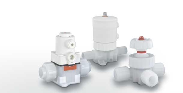 Высокочистые пластиковые мембранные клапаны